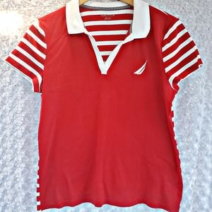 Nautica Polo Shirt striped classic fit